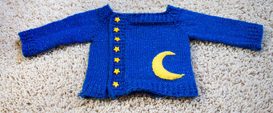Small Starry Sweater / Baby Astronomy Sweater