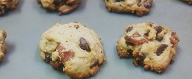 Building the best bacon cookies (Recipe: Spiced Bacon Chocolate Chip Cookies with a hint of Sriracha)