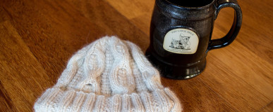 Alpaca Pome Hat for Mom