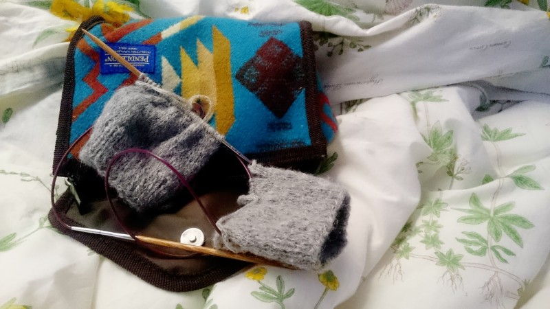 Hobo Mitts in Progress