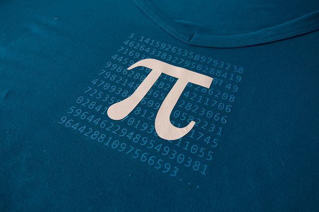 Pi day shirt design close-up