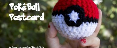 Crochet Pokéball Postcard Pattern