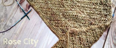 Rose city yarn crawl – Mystery knit a long clue 1