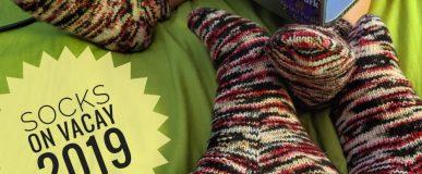 #socksonvacay2019: Mama/baby Dread Pirate socks!